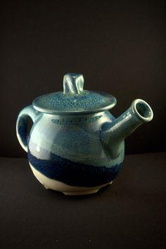 Blue & White Porcelain Teapot by WildfirePotteryPenn on Etsy, $45.00