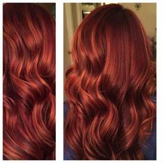 Lovely Copper Balayage - 60 Auburn Hair Colors to Emphasize Your Individuality - The Trending Hairstyle Copper Balayage, Balayage Ombré, Auburn Balayage, Hair Color Auburn, Auburn Hair, Ombre Hair Color, Red Ombre, Red Hair With Highlights, Copper Red Hair