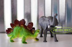 art actually: who doesn't love a neon stegosaurus?