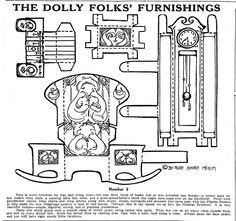 Dolly Folks Furnishings uploaded by Lucy at Mostly Paper Dolls. Paper Furniture, Furniture Dolly, Dollhouse Furniture, Paper Doll House, Paper Houses, Diy Paper, Paper Art, Paper Crafts, Diy Crafts