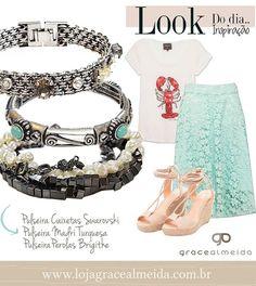 Inspirações de look com acessórios Grace Almeida contra looks sem graça!! PULSEIRAS NA LOJA VIRTUAL: www.lojagracealmeida.com.br LOOKS NO BLOG: www.gracealmeida.com.br/blog