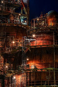 HDR Photo: Factory night view 'Tanks' | Flickr - Photo Sharing!