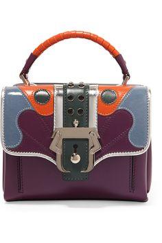PAULA CADEMARTORI Dun Dun leather tote. #paulacademartori #bags #shoulder bags #hand bags #crystal #tote #patent #