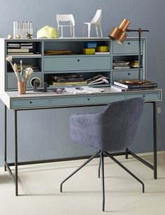Wooden secretary #desk ACT by Team by Wellis