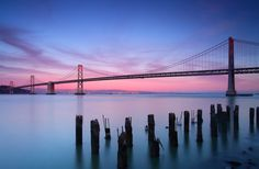 Sunset over Bay Bridge by Aaron Zhong on 500px