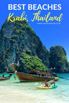 The ultimate guide to Krabi, Thailand! The trick is to head to Ao Nang ;) Get all the details here. Thailand Adventure, Thailand Travel Tips, Asia Travel, Ao Nang Krabi, Railay Beach, Krabi Thailand, White Sand Beach, Snorkeling, Travel Guides