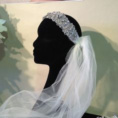 Go Gatsby with a vintage-style veil from Bel Aire Bridal. Will you be wearing a veil?