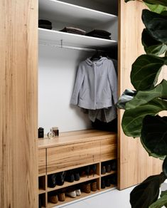 Actually, any size is functional for the smart closet system. The most important thing is that its size is suited to the user needs. The smart closet is a design goal that is very important to our… Bedroom Wardrobe, Wardrobe Closet, Open Wardrobe, Wardrobe Doors, Shoe Storage Wardrobe, Closet Clothing, Master Bedroom, Wardrobe Furniture, Bedroom Closet Design