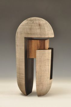 Todd Hoyer Born 1952 Beaverdam, WI Resides in Bisbee, Arizona Sculptures Céramiques, Small Sculptures, Abstract Sculpture, Wood Sculpture, Woodworking Inspiration, Wood Turning Projects, Artist Portfolio, Contemporary Sculpture, Wooden Art