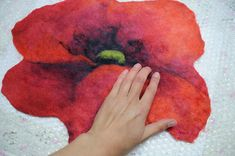 Tutorial pattern PDF in ENGLISH  Felted tea coaster by Renefelt