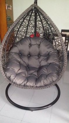 Cocoon Wicker Rattan Patio Swing Chair By Pearl River Modern Ny On