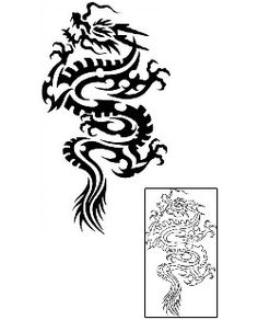 Tribal Dragon Tattoos GPF-00123 Created by Gentle Jay Pedro