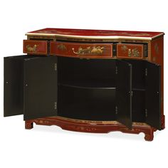 Rosewood Flower U0026 Birds Motif Night Stand | Best Night Stand And Asian  Furniture Ideas
