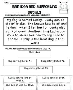 √ Main Idea and Supporting Details Exercises . 27 Main Idea and Supporting Details Exercises . 2nd Grade Worksheets, Teacher Worksheets, Kindergarten Worksheets, Halloween Worksheets, Homeschool Worksheets, Coloring Worksheets, Multiplication Worksheets, Kids Worksheets, Main Idea Lessons