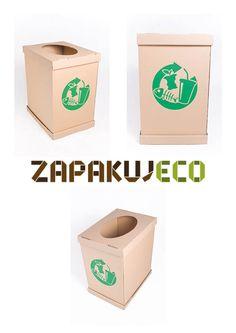 Małe, tekturowe, ekologiczne kosze na śmieci! Świetnie sprawdzą się jako pomocnik utrzymania czystości w każdym pomieszczeniu i podczas każdej imprezy!