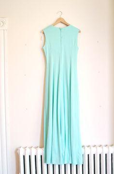 Maxi Dress grecian mint green by JuliaTopaz on Etsy