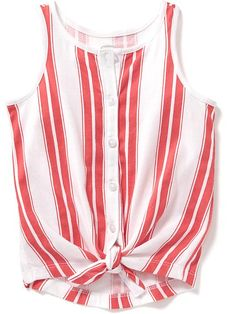 Tie-Front Patterned Top for Baby Product Image