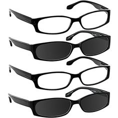 Reading Glasses for Women and Men - Best Designer Value 4 Pack of Readers with Sure-Flex Comfort Spring Hinge Arms & Dura-Tight Screws Always Have Quality Vision When You Need it!:   Tired of choosing between style, function, durability and fashion? At a fabulous price?/b With a 4-pack of ingeniously stylish reading glasses at an unbeatable price, you're no longer forced to choose! /bThere's more. Since each pair of his or hers, ultra-durable, sex-appeal enhancing glasses come in their...