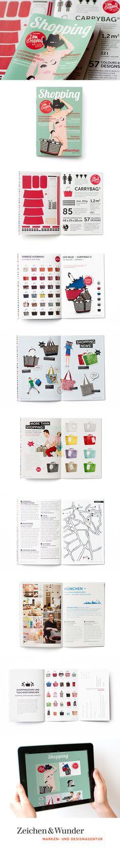 REISENTHEL / Shopping-Magazin / #Layout #Shopping #Konzeption / by Zeichen & Wunder, München