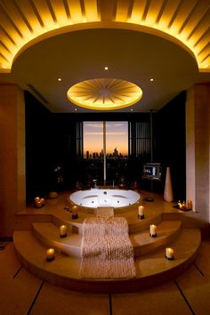 While the skyline is not so obvious as the room itself is stunning, this really is a bathroom with a view. #CheviotProducts likes this!