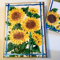 Sunflower card by Katie Pie Kards by Kelly Hardisty. 2015