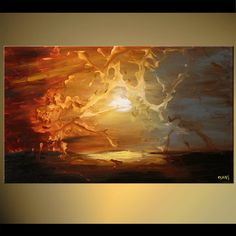 Original abstract art paintings by Osnat - abstract sunshine