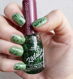Esmalte Glitter - brillos Verdes Katalia