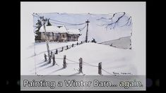 I do apologize for the lack of new videos lately. And also that it is another winter barn :( I do plan to get back to regular posting soon and than. Peter Sheeler, Pen And Wash, Colorful Houses, Watercolor Tutorials, Flat Brush, Snow Scenes, Travel Set, Winter Colors, Learn To Paint