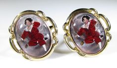 Gold Tone Cufflinks with Sir Thomas Lawrences Lord Lambton Painting