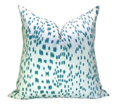 This listing is for one 20 x 20 inch Les Touches Aqua pillow cover with the same fabric ON BOTH SIDES. DESCRIPTION Designer: Brunschwig & Fils