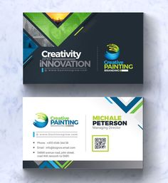P O W E R F U L-B R A N D I N G Identity Bundle is here!CreativePainting is very powerfull complete business branding for any kind of Corporate and Corporate Identity, Business Branding, Business Card Design, Business Cards, Identity Branding, Corporate Design, Visual Identity, Visiting Card Design, Japanese Graphic Design