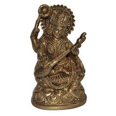 Buy DakshCraft Devi Saraswati Sculpture Brass Statue by DakshCraft, on Paytm, Price: Rs.1152?utm_medium=pintrest