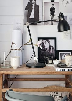 Stil Inspiration -m essy, inspiring corner Home Office Space, Office Workspace, Home Office Design, Office Decor, House Design, Bedroom Workspace, Office Ideas, Stil Inspiration, Workspace Inspiration