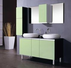 Bathroom feeling a little boring? Give your vanity a pop of color!