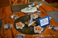 Star Trek: The Next Generation Party - Horrible Housewife Star Trek Party, Table Centerpieces, Table Decorations, Geek Baby, Fantasy Books, Best Part Of Me, Geek Stuff, Kid Stuff, Fundraising