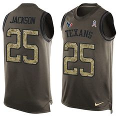 Nike #Texans #25 #Kareem #Jackson Green Men's Stitched NFL Limited Salute To Service Tank Top #Jersey