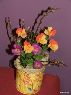 Bratki z bibuły (Viola tissue-paper)