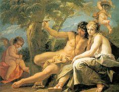 Sebastiano Ricci (1659-1727) Medoro and Angelica, 1720. Coleção particular.