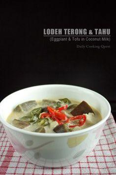 Lodeh Terong dan Tahu – Eggplant and Tofu in Coconut Milk