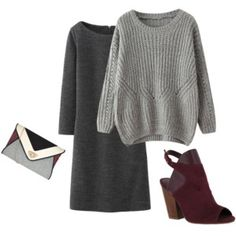 FASH!ON FACTOR!AL: Gray on Gray #monochromatic #fashion #fallfashion #styling