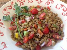 Lentil Salad With Tomatoes, Dill and Basil