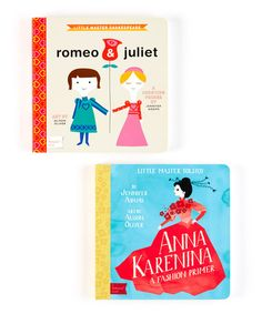 Take a look at this Romeo & Juliet and Anna Karenina Board Book Set by BabyLit on #zulily today! $12 !!