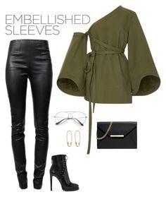 """Embellished Sleeves"" by marketazemanova ❤ liked on Polyvore featuring Alexander Wang, Rosie Assoulin, Alaïa, MICHAEL Michael Kors and Loren Stewart"