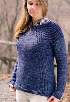 Пуловер сверху вниз спицами с описанием