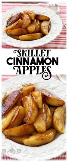 Skillet Cinnamon Apples – Butter With A Side of Bread – Apples are perfect this time of year and these easy skillet cinnamon apples are one of our favorite treats!