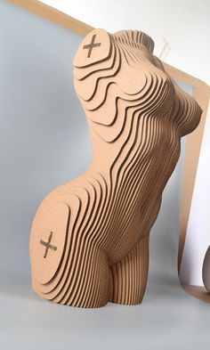 woman torso DIY cardboard KIT by boardattack on Etsy