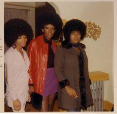 Afro ladies, February, 1972.  ©WaheedPhotoArchive, 2011.