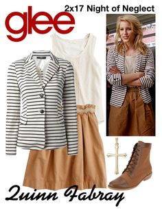 """Quinn Fabray (Glee) : 2x17"" by aure26 ❤ liked on Polyvore featuring MaxMara and glee"