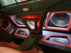 Custom Car Interior, Car Interior Decor, Custom Car Audio, Custom Cars, Audio Box, Car Interior Upholstery, Car Paint Jobs, Car Audio Installation, Donk Cars