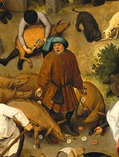 Pieter Bruegel the Elder - The Dutch Proverbs, detail, 1559